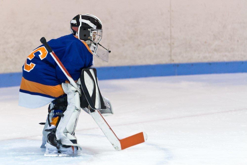 Eishockey Torwart als Beispiel für Bodenorientierung