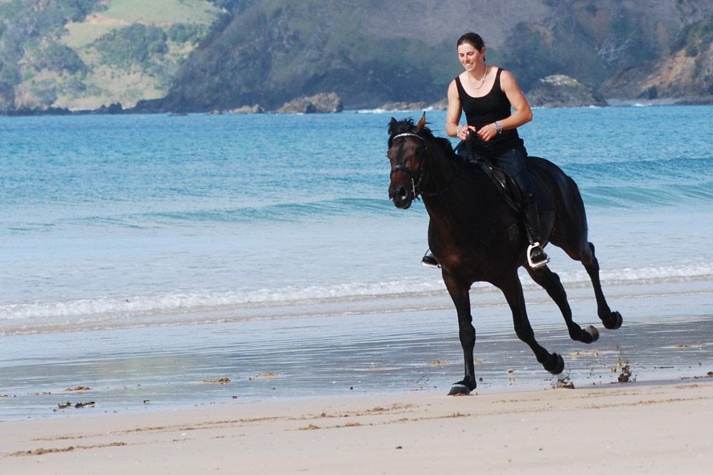 Vicky Wilson hat als professionelle Reiterin und Pferdetrainierin eine Bodenorientierung.