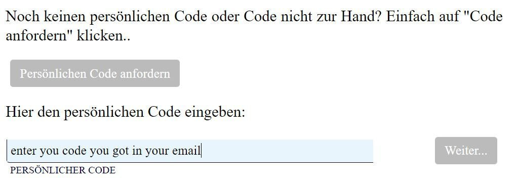 Appointment - Kontaktdaten confirmation of email