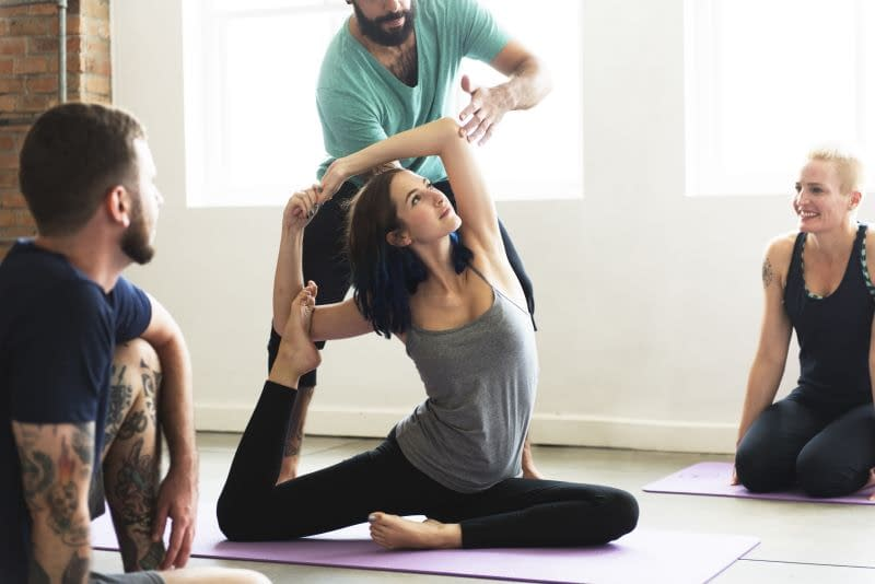 Support in Yoga by giving orientation