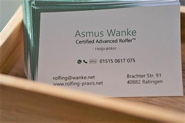 Visitenkarte Rolfing in Ratingen Praxis für Faszientherapie