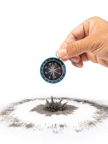 Kompass wird durch Störung abgelenkt - Körper verliert durch Verletzung Orientierung